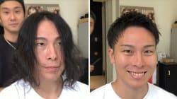 Grâce à une coupe de cheveux, ce coiffeur redonne confiance aux