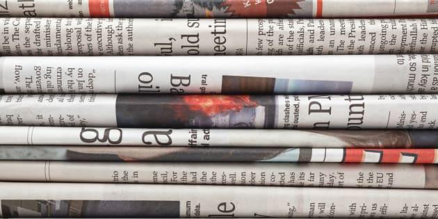 Des journaux. Illustration.