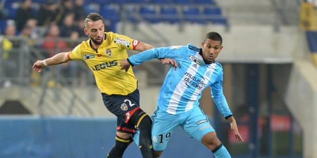 Florian Tardieu lors de Sochaux-Marseille le 13 décembre 2016.