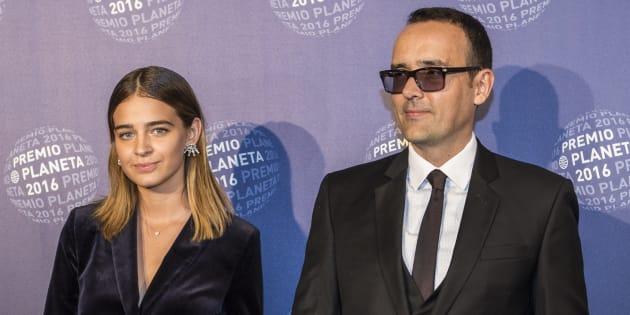 Laura Escanes y Risto Mejide, durante la entrega de los premios Planeta 2016.