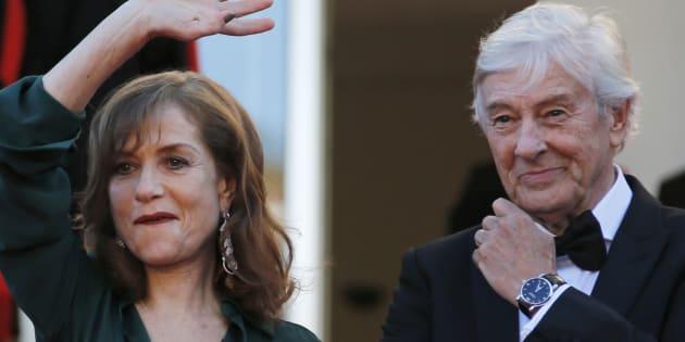 Paul Verhoeven et Isabelle Huppert au Festival de Cannes le 21 mai 2016.