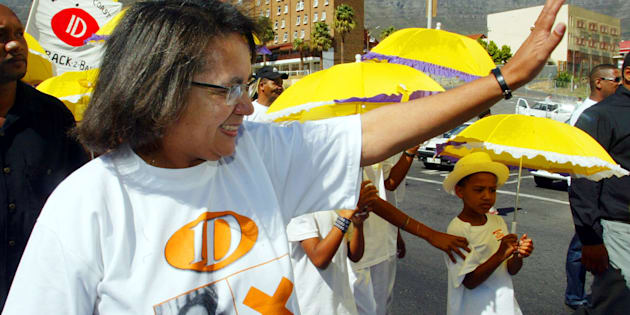 Patricia de Lille campaigning for the Independent Democrats in 2004.