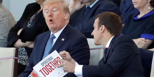 """Résultat de recherche d'images pour """"Macron Trump"""""""