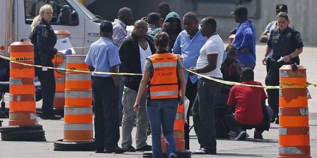 Résultats de recherche d'images pour «migrants nigerian lacolle»