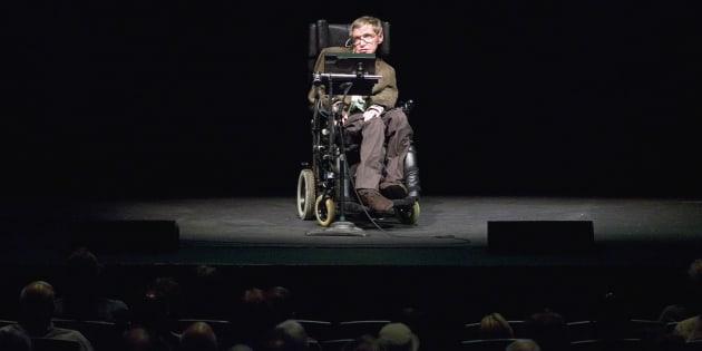 Stephen Hawking, mort ce mercredi 14 mars, photographié ici à Berkeley en 2007.