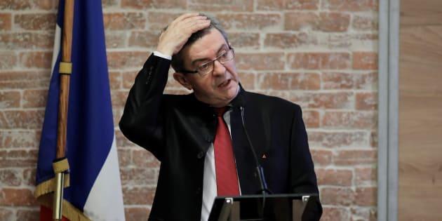 Jean-Luc Mélenchon le 21 mars dernier à Paris