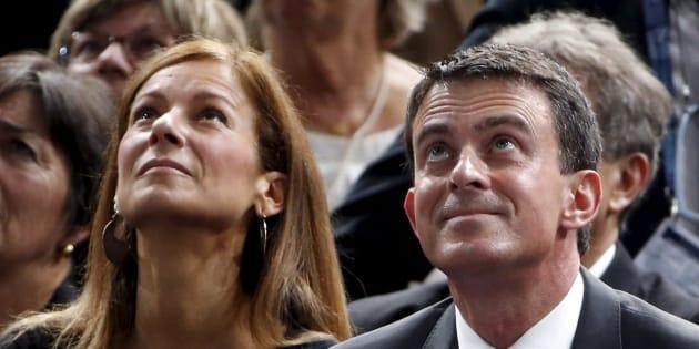 Manuel Valls et Anne Gavroin au Palais des sports de Bercy en novembre 2015.