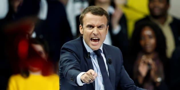 Emmanuel Macron lors de son meeting à Paris le 10 décembre 2016.