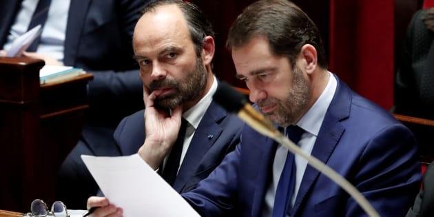 Le premier ministre Edouard Philippe et le délégué général de LREM Christophe Castaner.