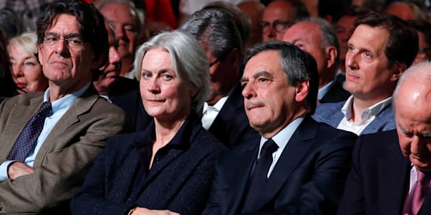 Penelope et François Fillon à Paris le 9 avril 2017.