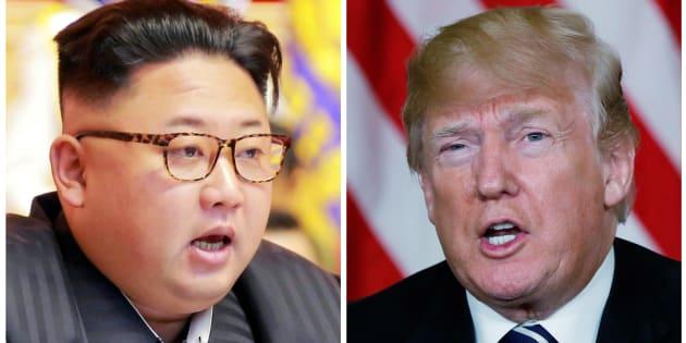 Kim Jong Un, líder de Corea del Norte (izquierda) y Donald Trump, presidente de Estados Unidos (derecha).
