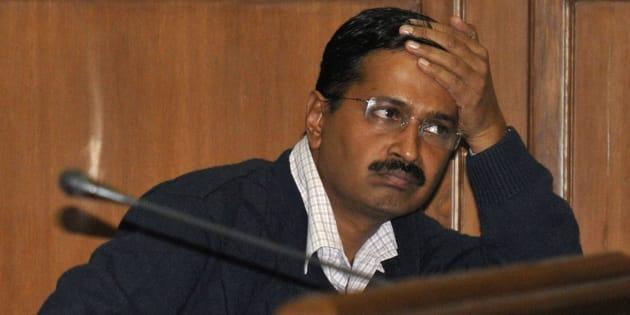 Delhi's Chief Minister Arvind Kejriwal, at the Delhi assembly in New Delhi.