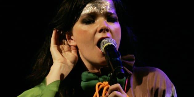 歌手のビョークさん(2007年11月13日撮影)