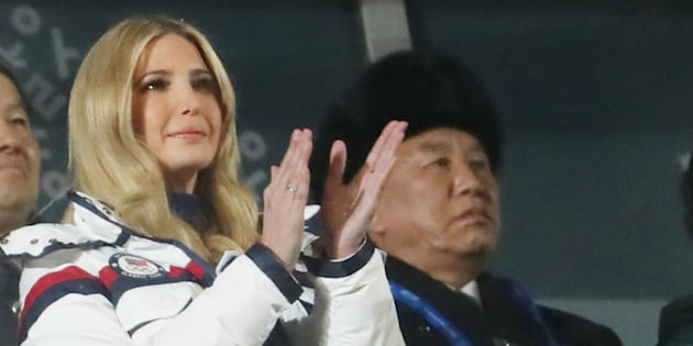 Pyeongchang 2018 Winter Olympics - Closing ceremony - Pyeongchang Olympic Stadium - Pyeongchang, South Korea - February 25, 2018 - Ivanka Trump, U.S. President Donald Trump's daughter and senior White House adviser, and Kim Yong Chol of the North Korea delegation attend the closing ceremony. REUTERS/Lucy Nicholson