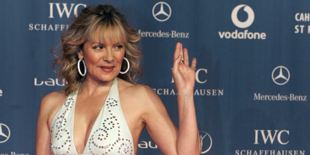 Kim Cattrall arrives for the Laureus Sports Awards in St Petersburg, Feb. 18, 2008. (REUTERS/Alexander Demianchuk)