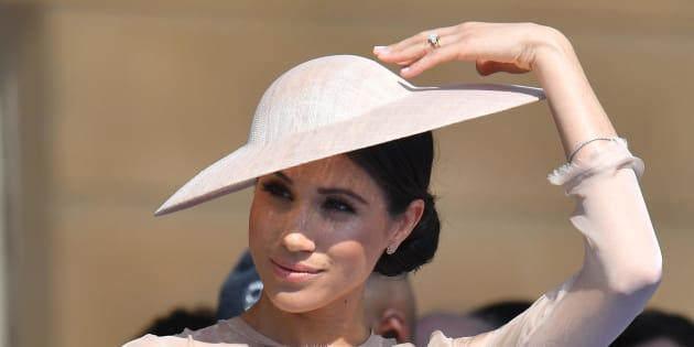 22/05/2018 Londra. I duchi di Sussex Harry e Meghan Markle al Garden Party per il compleanno del principe di Galles a Buckingham Palace.