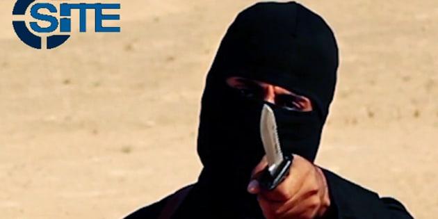 多くの欧米人の人質を殺害した「ジハーディ・ジョン」。武装組織監視団体SITEから入手した映像より