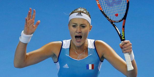 Kristina Mladenovic s'incline face à Karolina Pliskova après un set historique pour la Fed Cup
