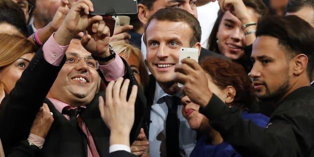 Emmanuel Macron au mois d'octobre à Montpellier.