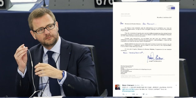 Jérôme Lavrilleux au Parlement européen en mai 2015.