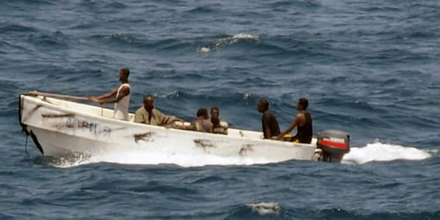 Pictured here, pirates head toward the Somali shore in 2008. Somali pirates recently released 26 Asian sailors held since 2012