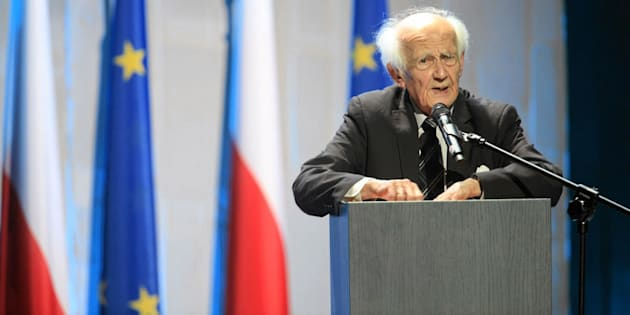 Polish sociologist Zygmunt Bauman speaks during the inauguration of the European Congress of Culture in Wroclaw.