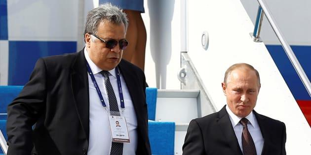 Andreï Karlov et Vladimir Poutine à Istanbul en octobre 2016