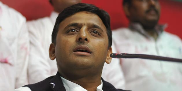 Akhilesh Yadav, state party president and son of the Samajwadi Party President Mulayam Singh Yadav, speaks during a news conference at their party headquarters in the northern Indian city of Lucknow March 6, 2012.