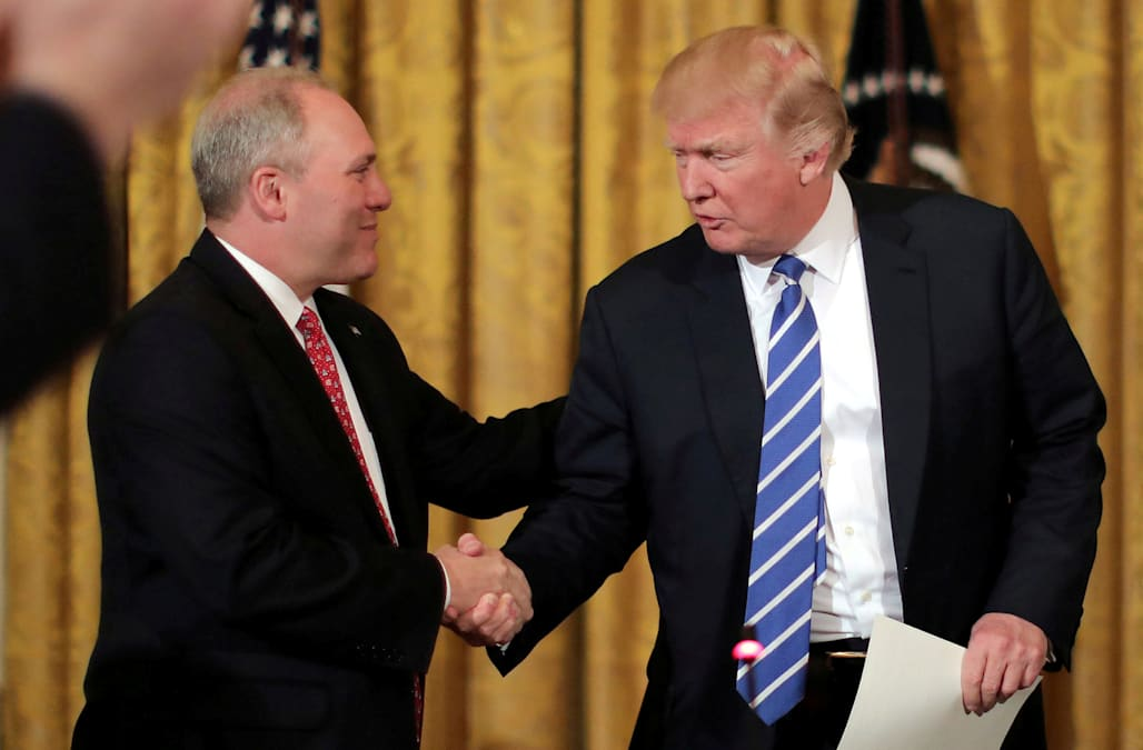 Image result for trump with scalise