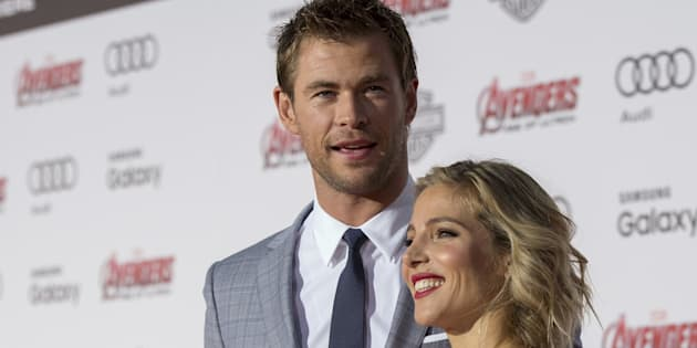Chris Hemsworth y Elsa Pataky en el estreno de 'Los Vengadores: La era de Ultron' en Hollywood el 13 de abril de 2015.