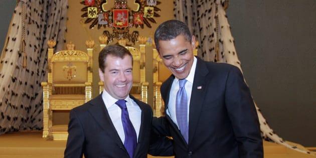 9 ans avant Donald Trump et Vladimir Poutine, Barack Obama et Dmitri Medvedev en juillet 2009.