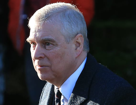 Sign on school bus urges Prince Andrew to call FBI