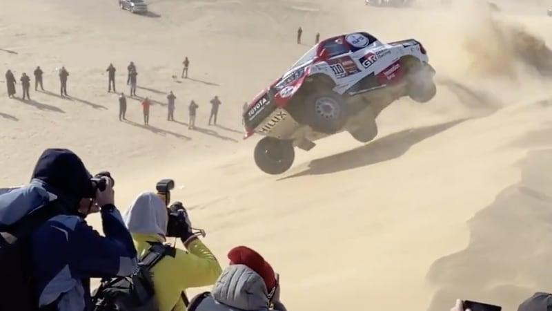Barrel-rolling down a sand dune won't stop Fernando Alonso's Dakar race