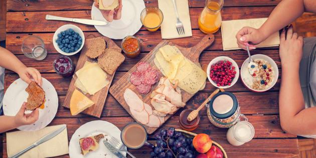Déjeuner traditionnel en Belgique