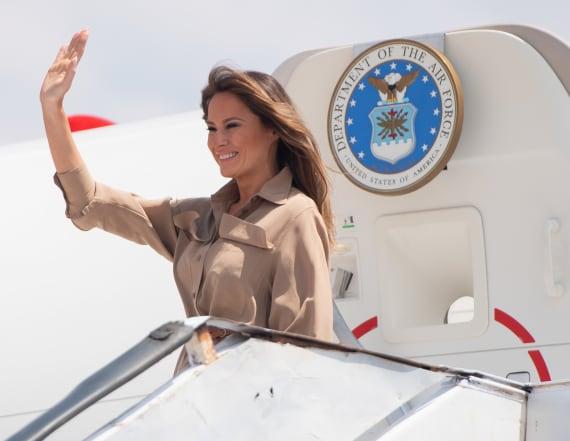 Melania Trump's plane suffers malfunction