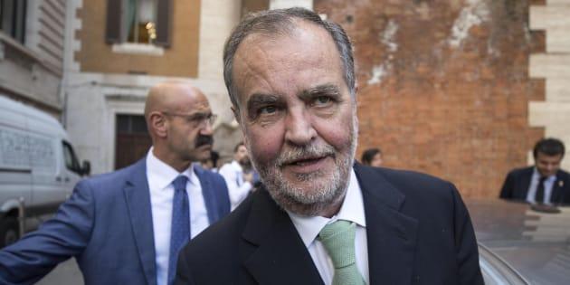 Roberto Calderoli esce da Montecitorio, Roma, 30 maggio 2018. ANSA/MASSIMO PERCOSSI