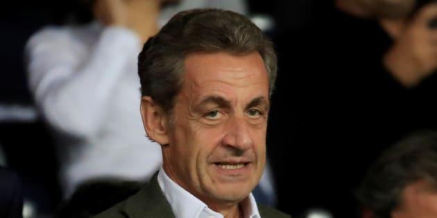 """Nicolas Sarkozy (ici le 14 septembre au Parc des Princes) voit son premier recours dans l'affaire des """"écoutes"""" rejeté par la justice."""
