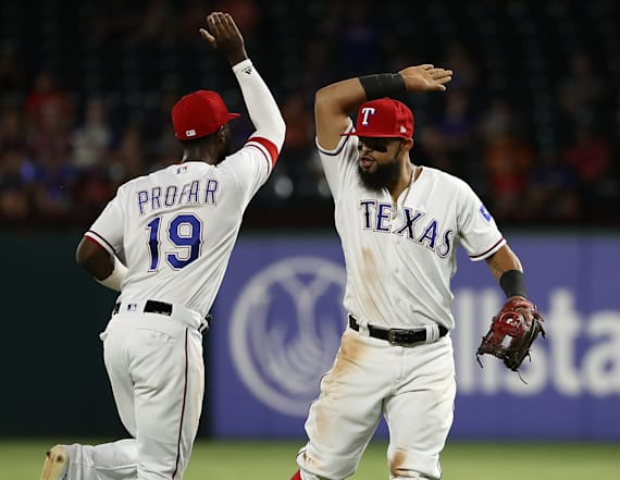 Rangers turn wild triple play not done since 1912