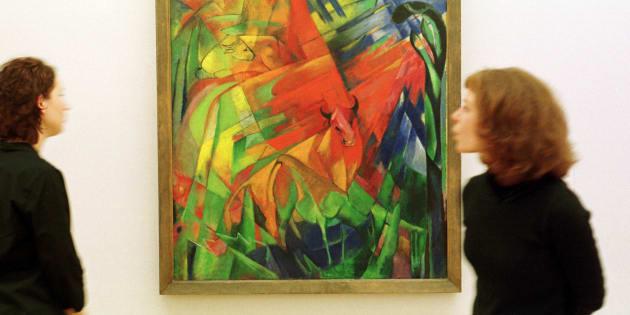 """""""Bild mit Rinder II"""" de Franz Marc (illustration)"""
