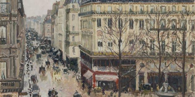 PISSARRO, 'Camille Rue Saint-Honoré por la tarde. Efecto de lluvia', 1897