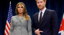 El lenguaje corporal del príncipe Harry con Melania Trump lo dice