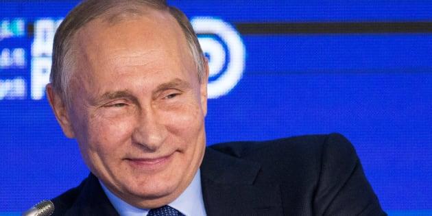 Vladimir Poutine à Moscou le 18 octobre 2016. REUTERS/Alexander Zemlianichenko/Pool