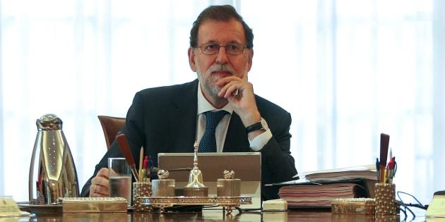 Mariano Rajoy, durante el Consejo de Ministros extraordinario sobre el problema catalán del pasado 7 de septiembre.