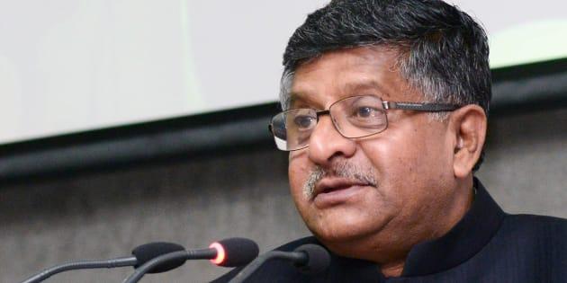 Ravi Shankar Prasad, Minister for Communications and IT.