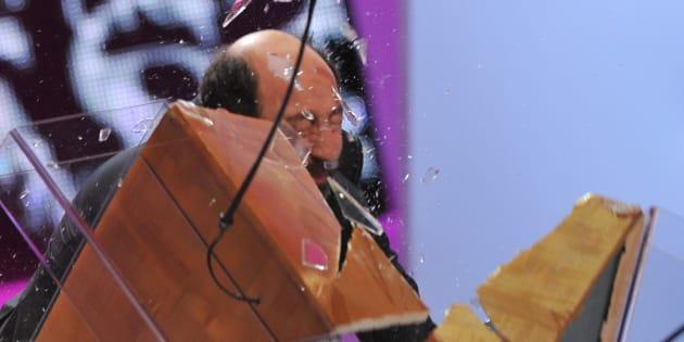 L'acteur Kad Merad s'était fait remarquer lors de la 37e cérémonie des César avec une entrée fracassante pour une remise de prix.