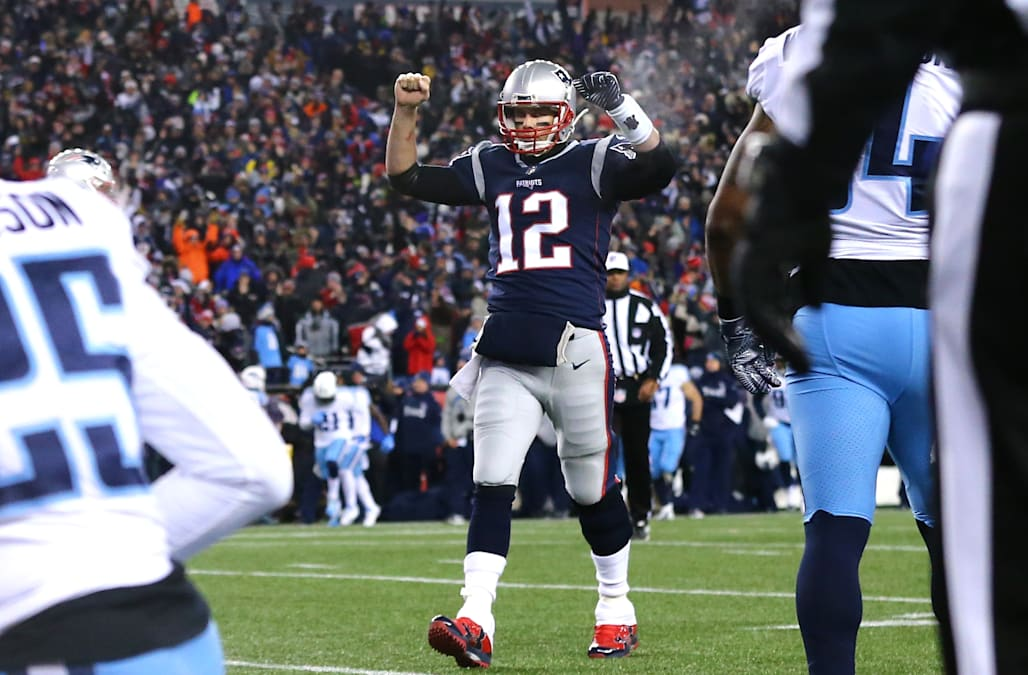 Image result for tom brady titans playoff