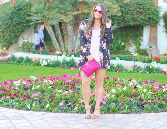 Street style top of the day: Floral kimono