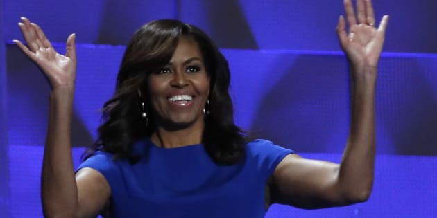 Michelle Obama à Philadelphie pour la Convention démocrate, le 25 juillet 2016.