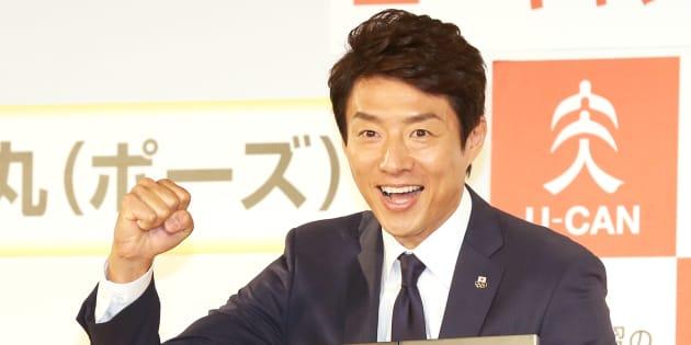 TBS系ドラマ「陸王」に出演する松岡修造氏(2015年12月1日撮影)