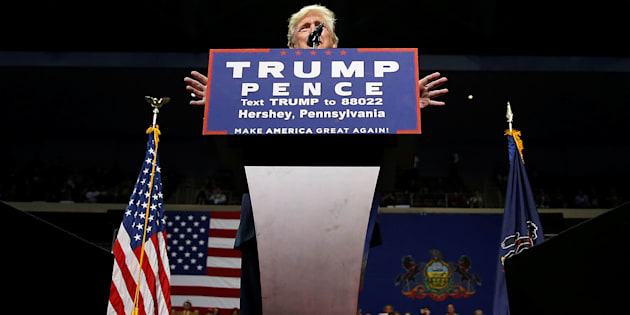 Donald Trump en meeting en Pennsylvanie, le 4 novembre 2016.